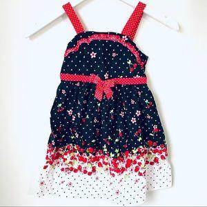 Ashley Ann Polka Dot & Cherries Dress